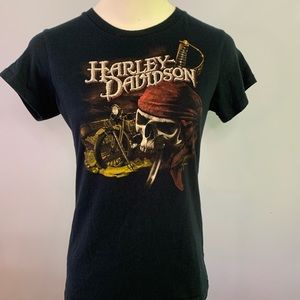 Harley-Davidson Black Graphic T-Shirt  Size Small